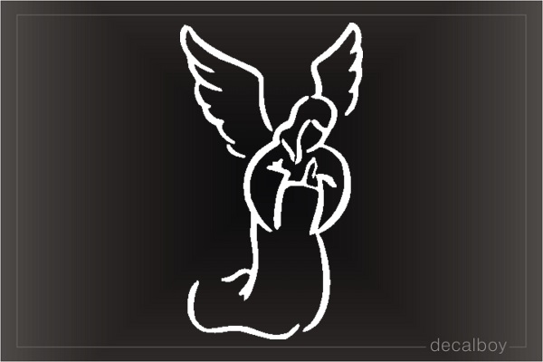 Angel Praying Kneeling Window Decal