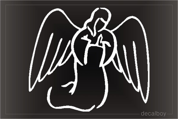 Angel Clipart Window Decal