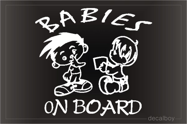 Baby Boys On Board Window Decal