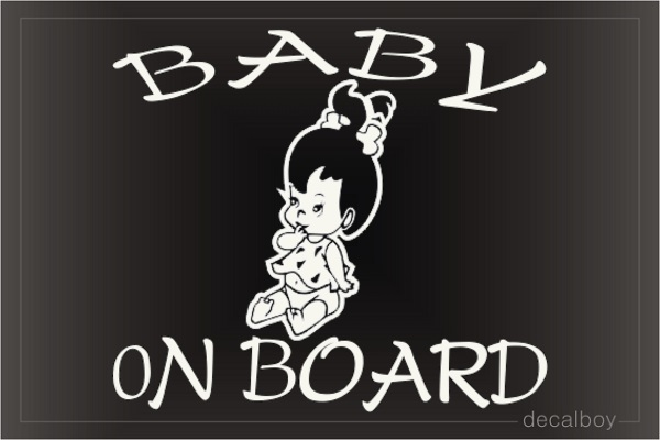 Baby On Board Toddler Window Decal