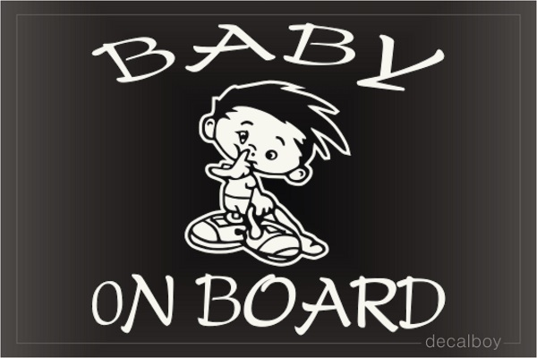 Baby Boy On Board Window Decal
