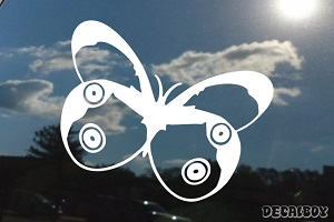 Blue Morpho Butterfly Clipart Window Decal