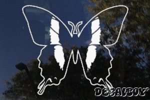 Swallowtail Butterfly Image Window Decal