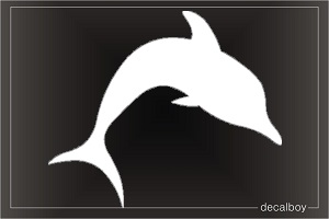 Dolphin Silhouette Window Decal