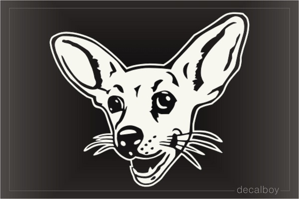 Chihuahua Face Car Window Decal