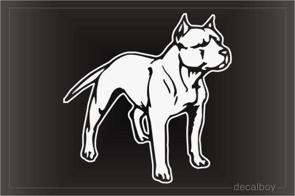 Pit Bull American Car Window Decal