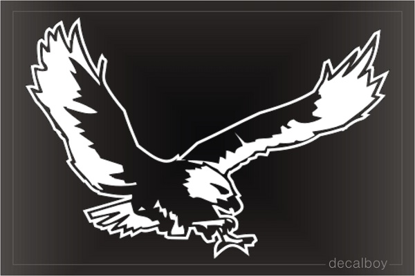 Bald Eagle Flying Window Decal