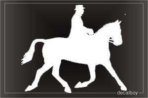 Horse Riding Car Window Decal