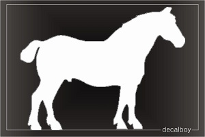 Sandalwood Pony Car Window Decal