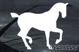 Hackney Pony Car Window Decal