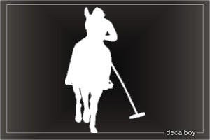 Horse Polo Car Window Decal