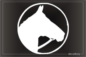 Horse Head Circle Car Window Decal
