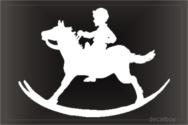 Toy Horse Car Window Decal