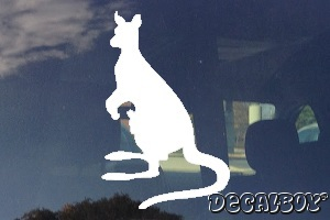 Kangaroo 123 Window Decal