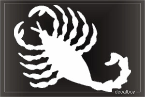 Scorpion 123 Window Decal