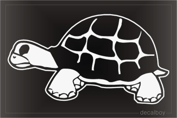 Land Turtle Clipart Window Decal