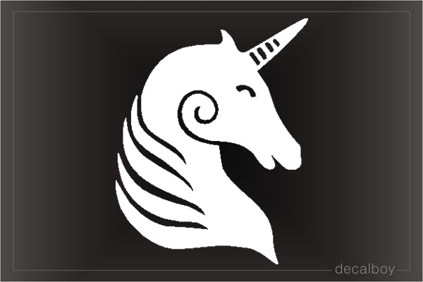 Unicorn 11 Window Decal