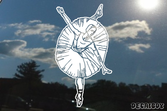 Ballerina Dancing Car Window Decal