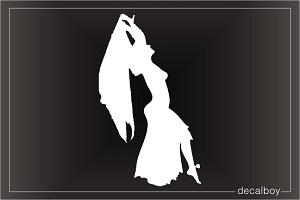 Belly Dancer 2 Car Window Decal