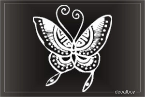 Butterfly Tattoo Window Decal