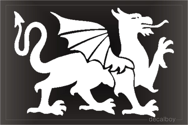 Dragon 21 Car Window Decal