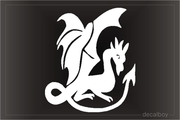 Dragon 22 Car Window Decal