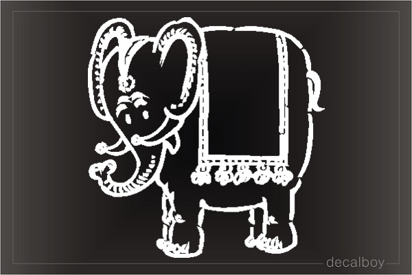 Elephant 5 1 Car Window Decal