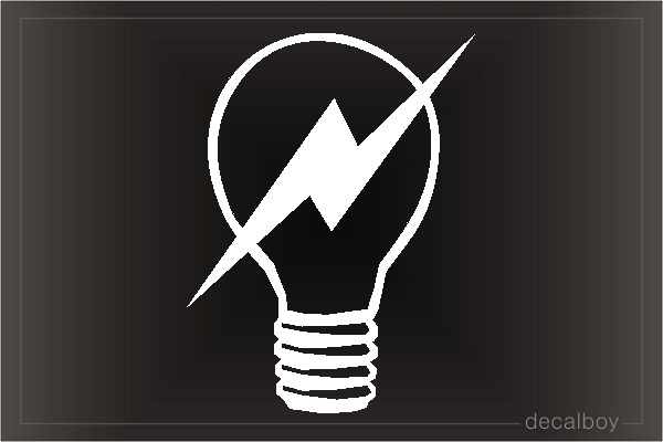 Electric Bulb 2 Car Decal
