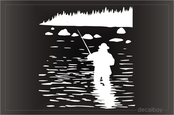 Fishing Lines Window Decal