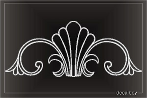 Floral Corner Design Stock Die-cut Decal