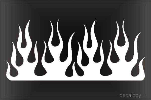 Flame Clipart Die-cut Decal