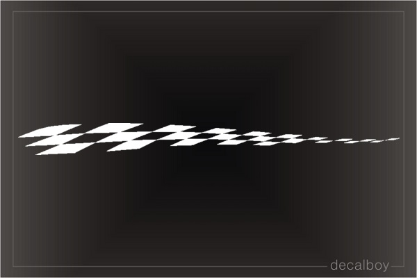 Stripe Checkered Graphic Die-cut Decal