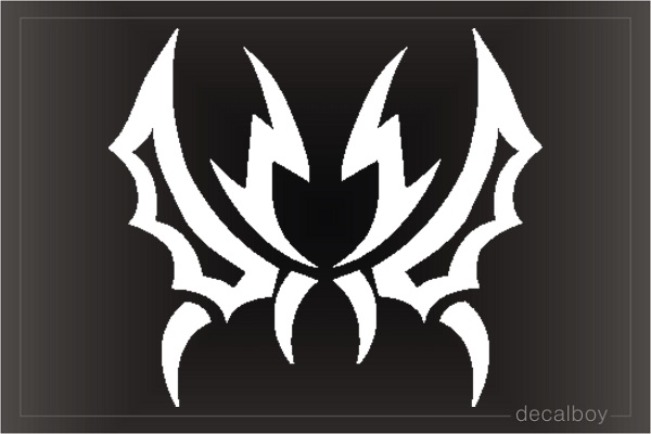 Tattoo Tribal Bat Die-cut Decal
