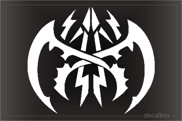 Tattoo Tribal Bat Design Die-cut Decal
