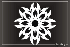 Tattoo Interlaced Flames Sun Die-cut Decal