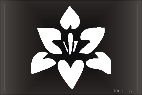 Orchid Window Decal