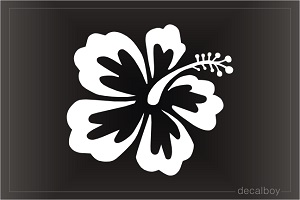 Hawaiian Flower Hibiscus Tropical Car Window Decal