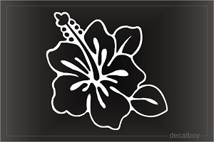 Hawaiian Flower Ilima Car Window Decal