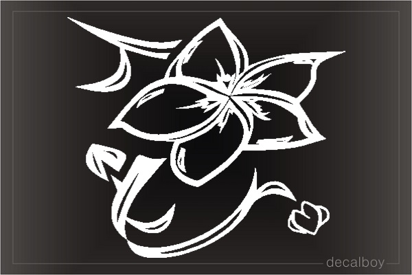 Orchid Clipart Car Window Decal