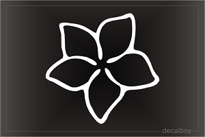 Hawaiian Flower Plumeria Design Car Window Decal