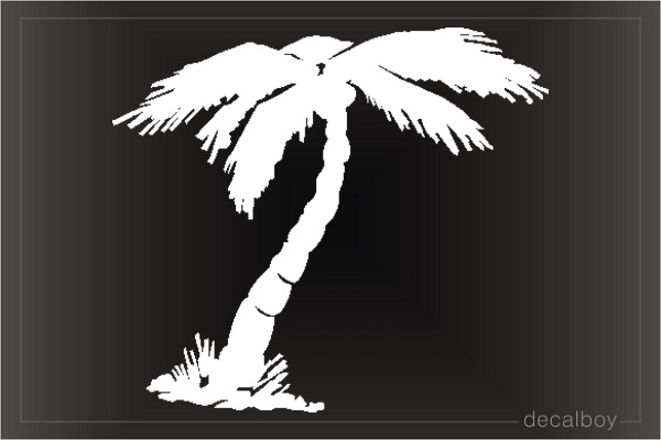 Palm Tree Tropical Window Decal