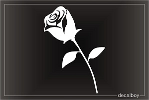 Rose Single Window Decal