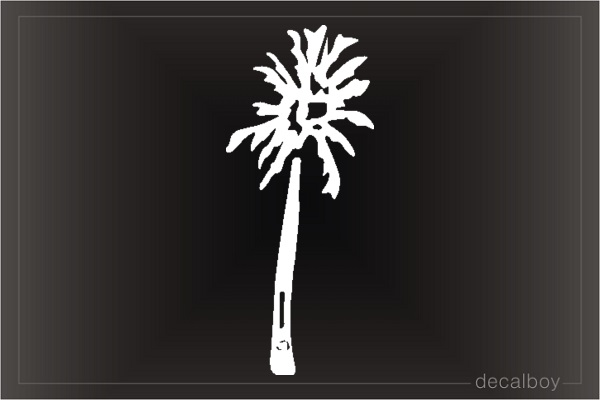 Tree Palm Window Decal