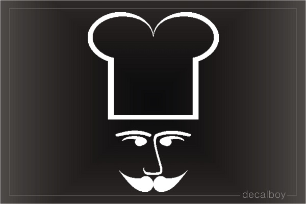 Chef 12 Car Window Decal