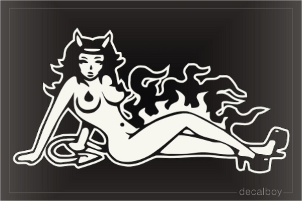Devil Mud Flap Girl Car Window Decal