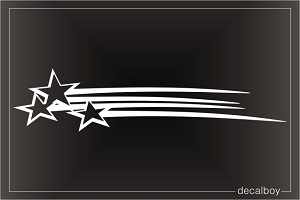 Shooting Stars Car Window Decal