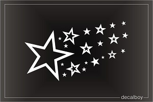 Shooting Stars Tattoo Hockey/girl Car Window Stickers