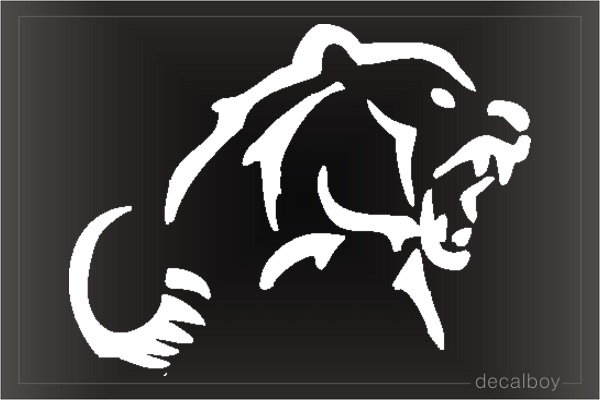 Grizzly Bear Window Decal