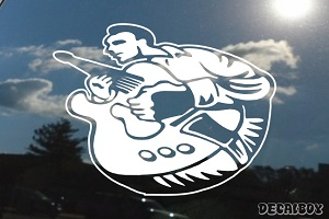 Guitar Player 2008 Car Decal