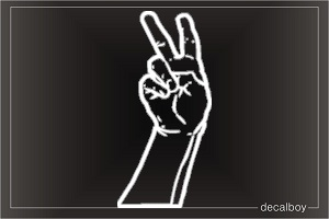 Hand Peace Signs Design Car Decal